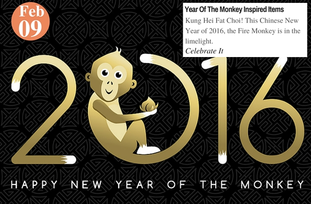 Year Of The Monkey Inspired Items