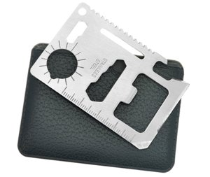 10-in-1 Multi-function Survival Wallet Tool