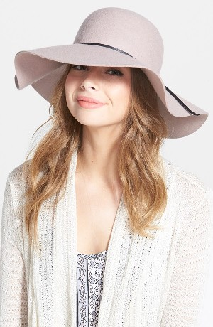 BP. Rope Trim Floppy Felt Hat