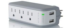 Belkin 3-Outlet Mini Travel Swivel Charger Surge Protector
