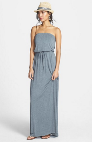 Caslon® Strapless Knit Maxi Dress
