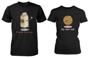 Cute Matching Couple Shirts - Milk and Chocolate Chip
