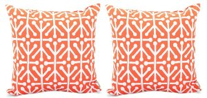 Dancer 20x20 Outdoor Pillows, Orange