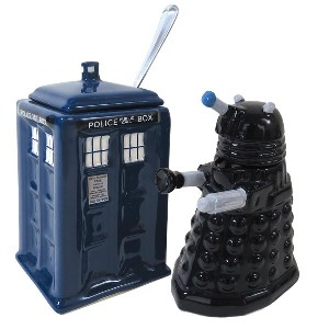 Doctor Who TARDIS v. Dalek Creamer & Sugar Bowl