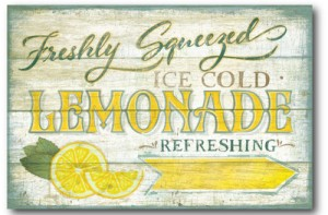 Farmhouse Canvas Lemonade Sign Gallery Wrapped Canvas