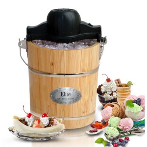 Gourmet 6-qt. Old Fashioned Pine Bucket Ice Cream Maker
