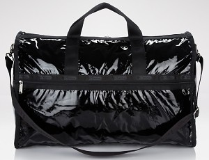LeSportsac Large Weekender in Black Shine