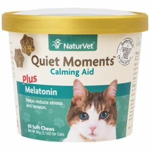 NaturVet® Quiet Moments™ Calming Aid Plus Melatonin for Cats