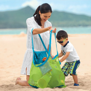 SySrion® Brand and New Sand Away Beach Mesh Bag Tote
