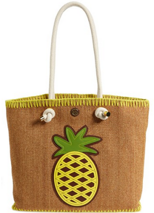 Tory Burch 'Pineapple' Woven Tote
