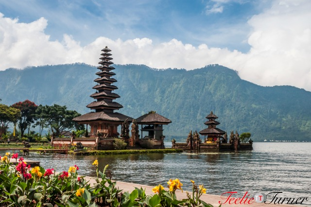 Pura Ulun Danu temple at Beratan lake in Bali Indonesia.