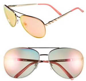 kensie 'Paris' 64mm Aviator Sunglasses