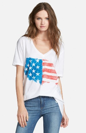 Chaser Painted Flag V-Neck Tee