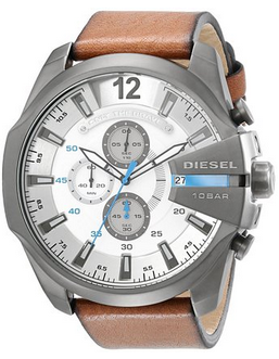 Diesel Men's DZ4280 Diesel Chief Series Analog Display Analog Quartz Brown Watch
