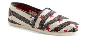 TOMS 'Classic - Natural Star' Slip-On