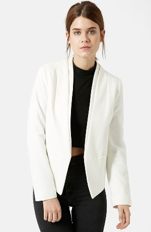 Topshop 'Poppy' Double Collar Blazer