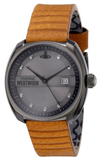 Vivienne Westwood Men's VV080GNTN Bermondsey Analog Display Swiss Quartz Brown Watch