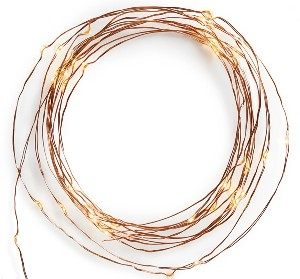 CREATIVE CO-OP Copper Wire LED Light Chain
