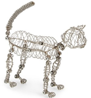 Design Ideas 'Whiskers™ The Doodle Cat' Wire Frame Cat