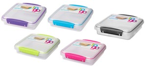 Klip It Sandwich To Go Box by Sistema USA