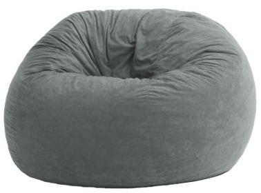 Large Suede Fuf Beanbag Chair
