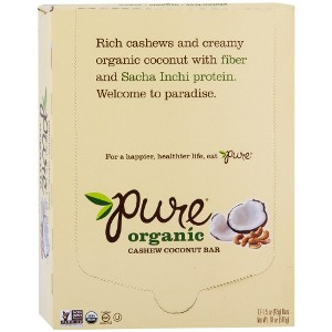 Pure Organic Bar, Cashew Coconut