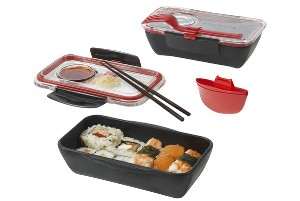 Rectangular 3 Piece Bento Box Set by Black + Blum