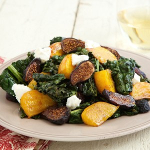 Roasted Kale & Beet Salad with Figs and Goat Cheese by Chef'd
