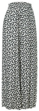 Small Flowers Elastic Waist Loose Fit Culotte