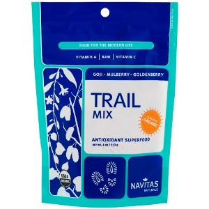 Trail Mix Goji Mulberry & Goldenberry 4 oz, Navitas Naturals