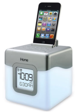 iHome® Glow Tunes LED Color Changing Alarm Clock Docking Station
