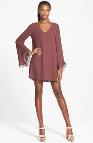 ASTR Lace Trim Shift Dress