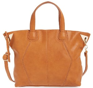 Dolce Girl Metal Accent Faux Leather Satchel