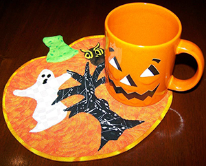 Ghostly Pumpkin Rug Mug