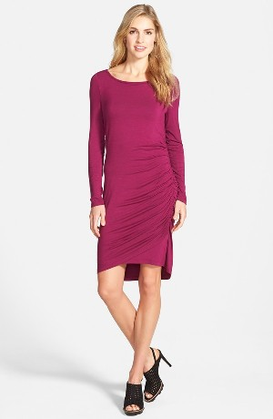 Halogen® Side Shirred Knit Dress