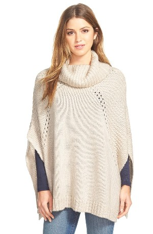 LAmade 'Sage' Knit Turtleneck Poncho