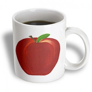 Red Apple Ceramic Mug