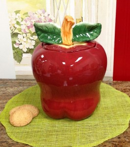 Red Apple Kitchen Decor Cookie Jar Canister