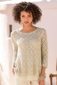 Sparkle Chiffon Sweater