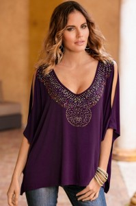 Sparkle Poncho Top