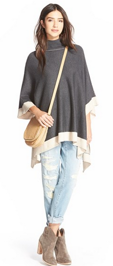Splendid Turtleneck Poncho