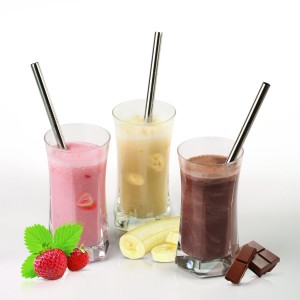 Stainless Steel Reusable Smoothie Straws by Savvy Straws