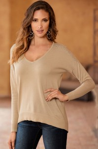 Stud Shoulder Easy Pullover