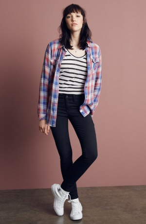Treasure&Bond Cotton Plaid Shirt
