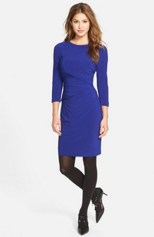 Vince Camuto Side Ruched Jersey Body-Con Dress