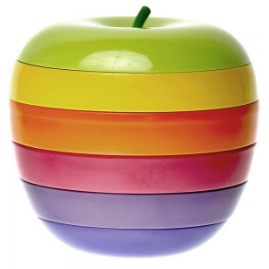 Wowly Appetizer Plates Set - Apple Shaped