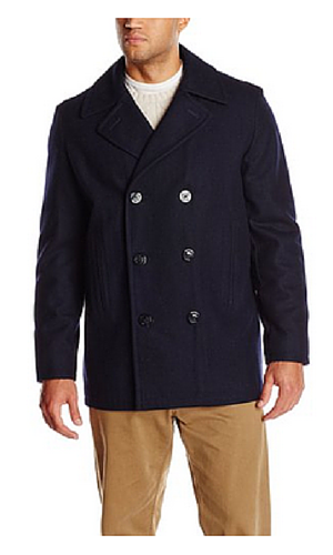 3A Nautica Men's Big-Tall Melton Peacoat