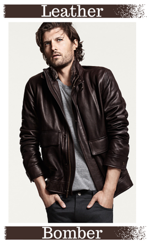 4. Leather Bomber