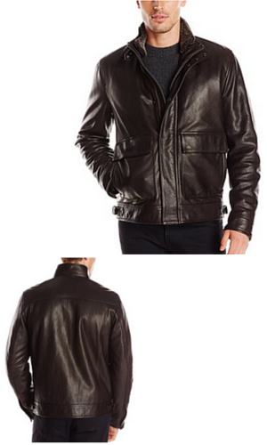 4A Cole Haan Men's Leather Aviator Jacket