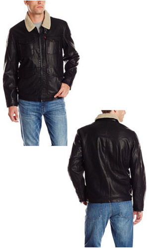 4A Levi's Men's Faux-Leather